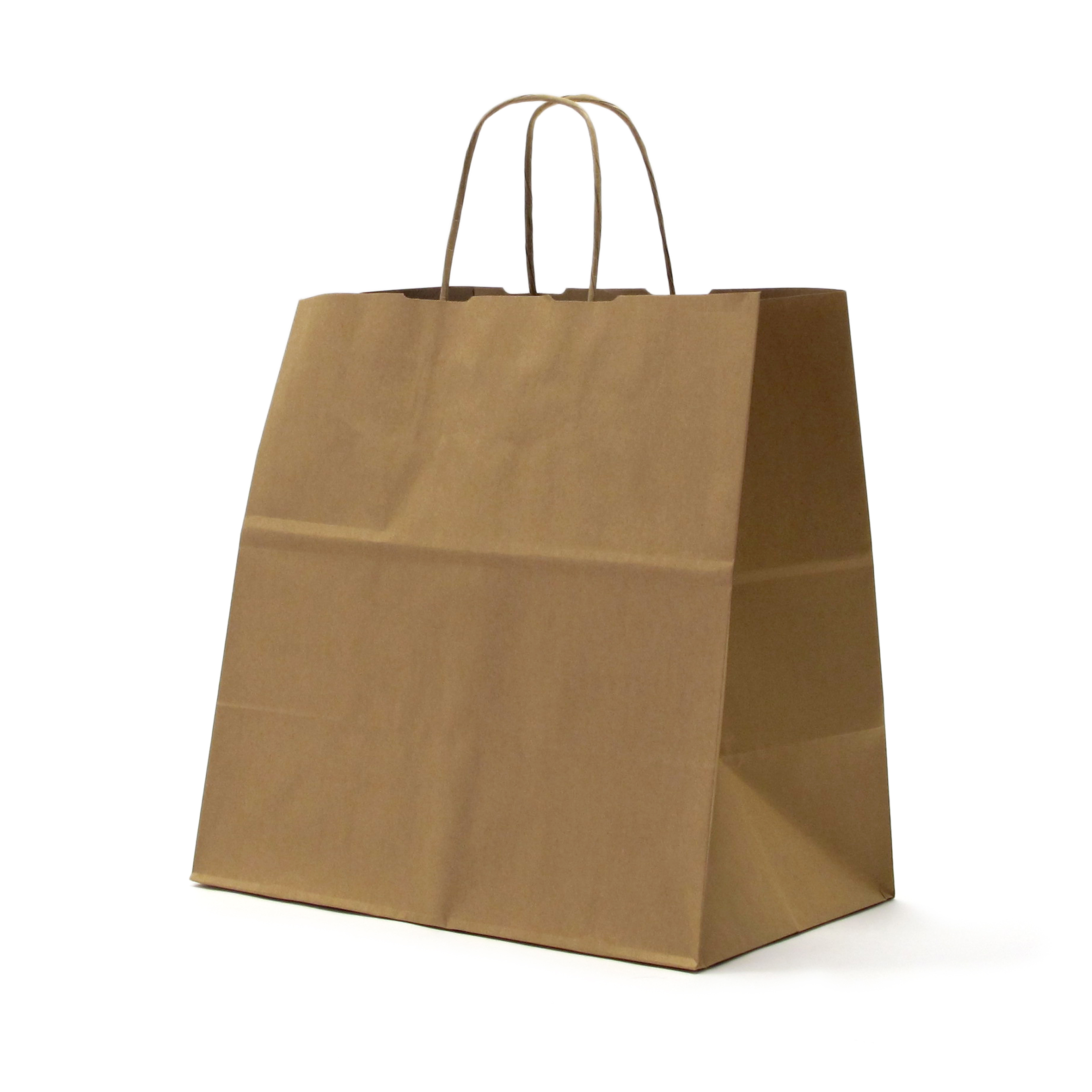 EL CARMEN Bolsa de papel Kraft liso | Asa de papel retorcida | Especial TAKE AWAY