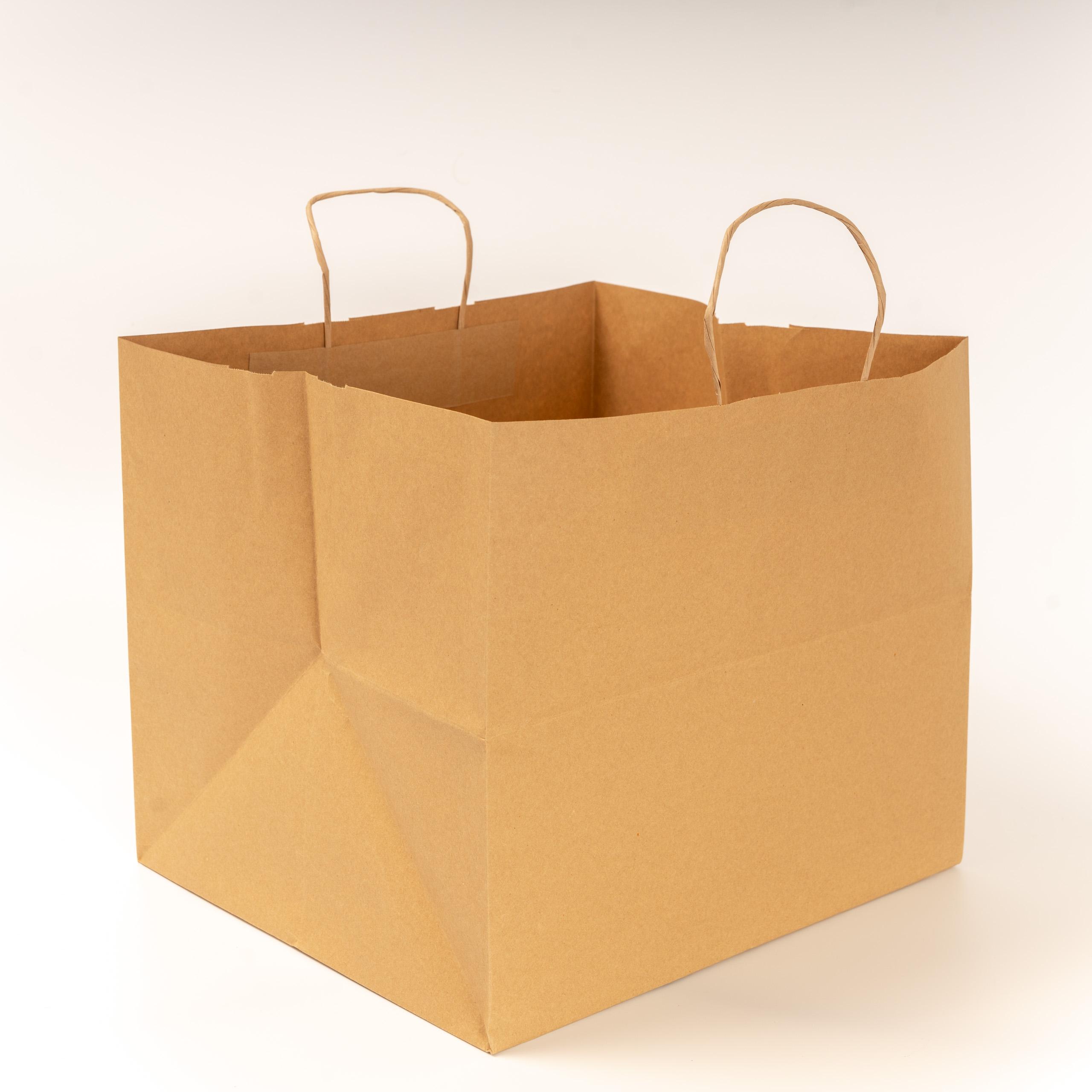 EL CARMEN Bolsa de papel Kraft liso | Asa de papel retorcida