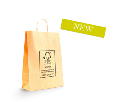 FSC Mix twisted handle paper carrier bag
