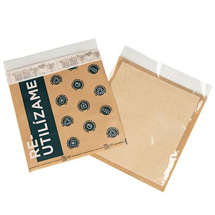 Reusable brown Kraft Vacuum Sacovitta Bag (Printed Re-use me)