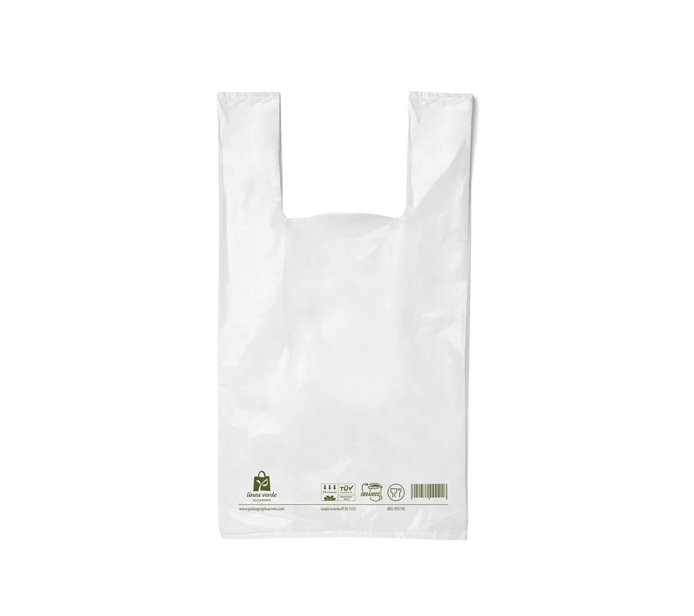 Compostable T-shirt bag
