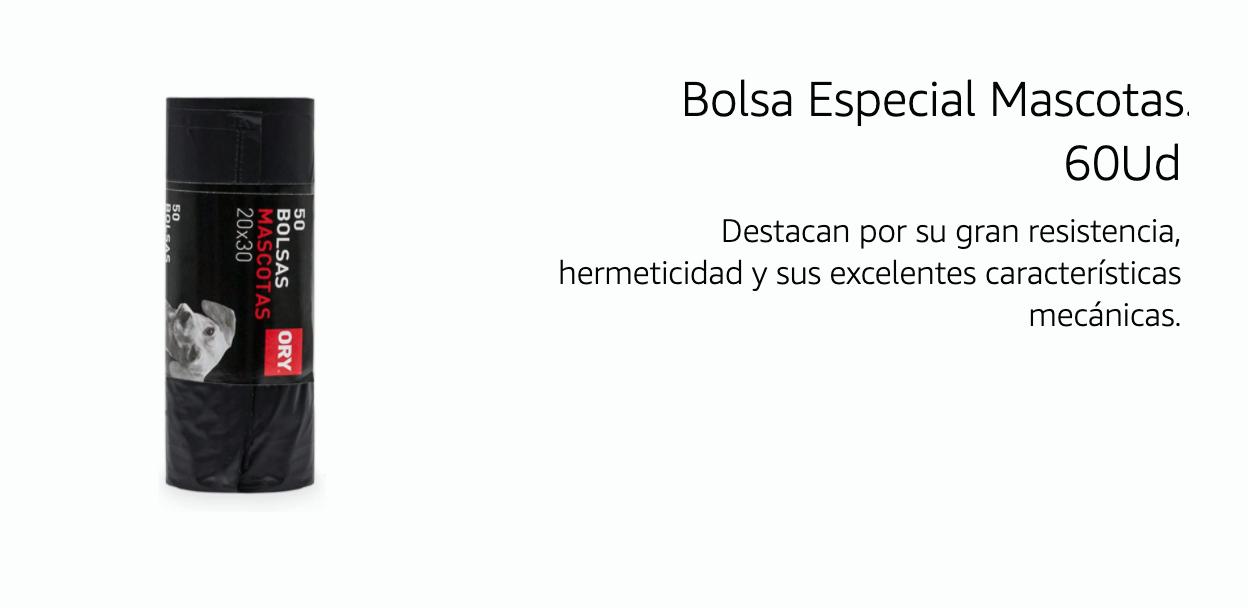 Bolsa Especial Mascotas 0,68€ (0,01€/Unidad)